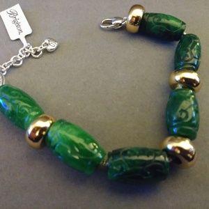 Brighton Bracelet with Carved Jade Beads